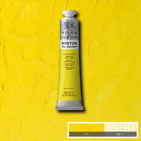 W&N PEINTURE HUILE WINTON 200ML 346 JAUNE CITRON IMITATION