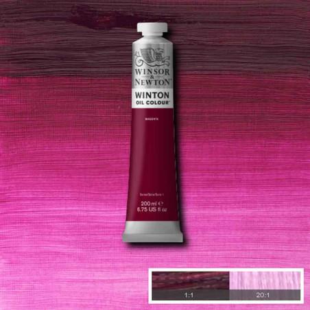 W&N PEINTURE HUILE WINTON 200ML 380 MAGENTA