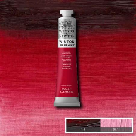 W&N PEINTURE HUILE WINTON 200ML 478 LAQUE CRAMOISIE PERMANENT