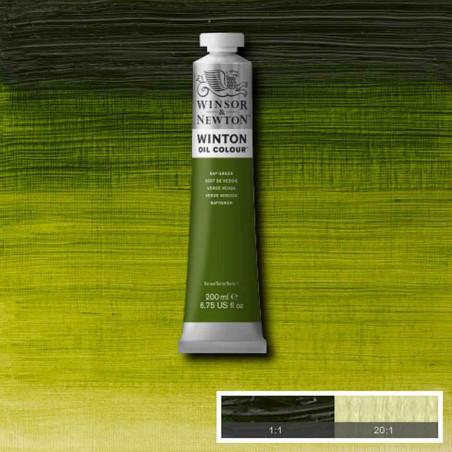 W&N PEINTURE HUILE WINTON 200ML 599 VERT DE VESSIE