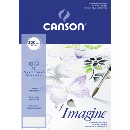 CANSON POCHETTE IMAGINE A3 200G 10F/ A EFFACER