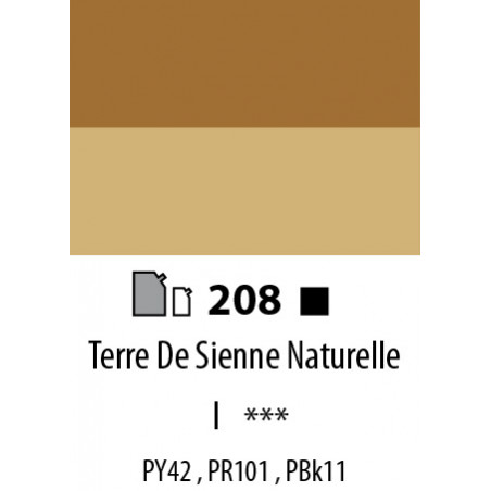 ABSTRACT SATINEE 500ML 208 TERRE SIENNE NATURELLE