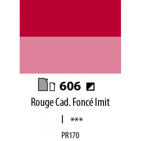 ABSTRACT SATINEE 500ML 606 ROUGE CADMIUM FONCE IMIT.
