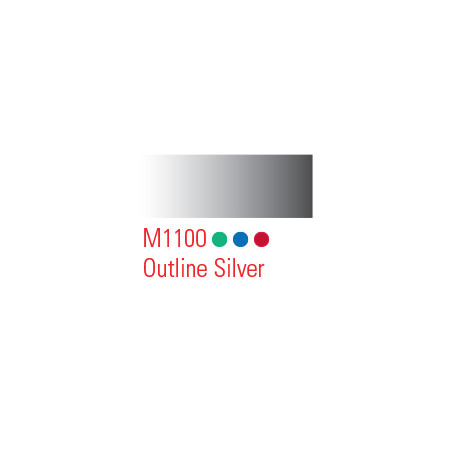 MONTANA MARKER 2MM M1100 OUTLINE SILVER