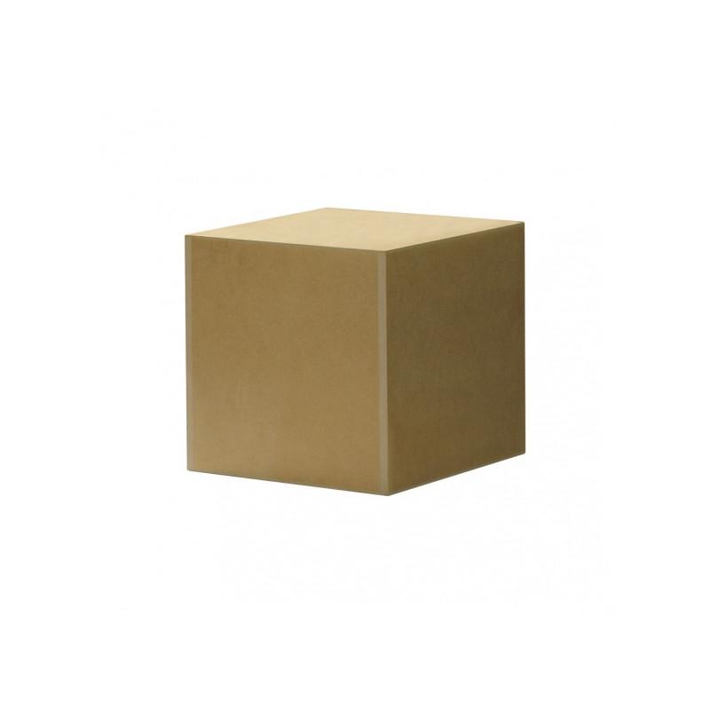 Petit socle cubique pour sculpture en bois