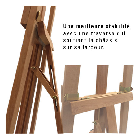 Chevalet académique en bois