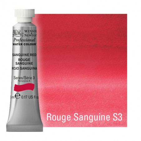 WINSOR&NEWTON AQUARELLE 5ML S3 165 ROUGE SANGUINE