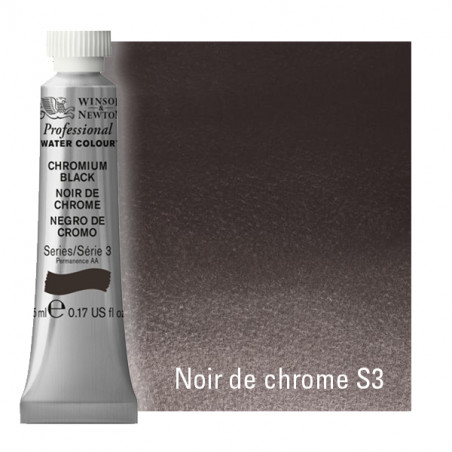 WINSOR&NEWTON AQUARELLE 5ML S3 387 NOIR DE CHROME