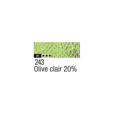 CARAN D'ACHE PASTEL PENCIL 243 OLIVE CLAIR 20%