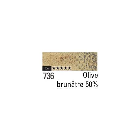 CARAN D'ACHE PASTEL PENCIL 736 OLIVE BRUNATRE 50%