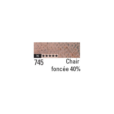 CARAN D'ACHE PASTEL PENCIL 745 CHAIR FONCEE 40%