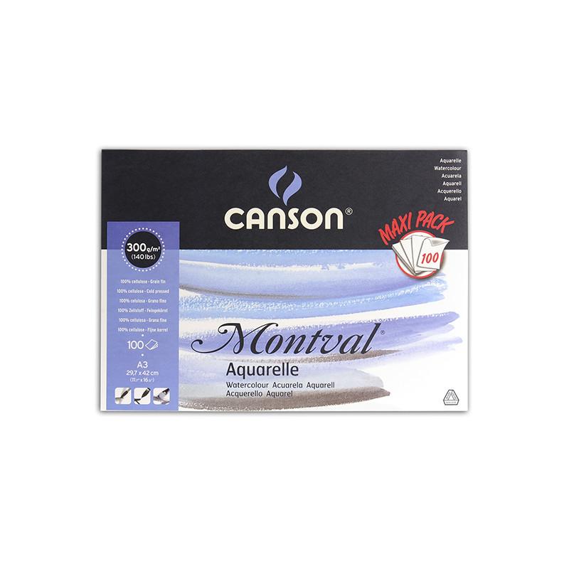 Maxi bloc papier aquarelle MONTVAL Canson