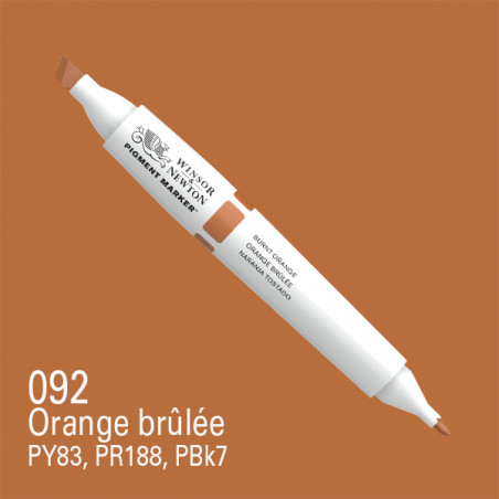 W&N PIGMENT MARKER ORANGE BRULEE 092/SERA SUPP