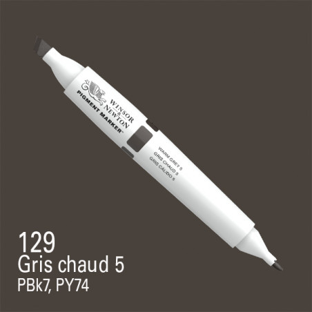 W&N PIGMENT MARKER GRIS CHAUD 5