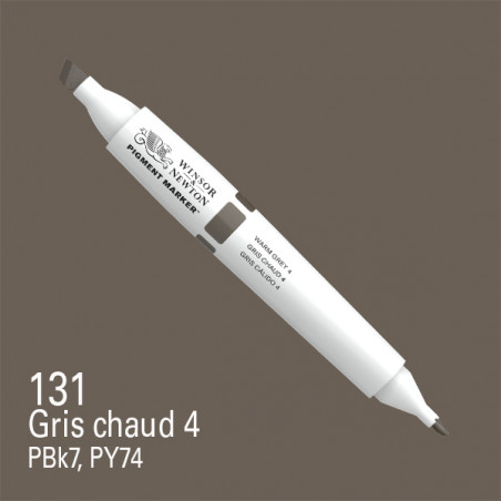 W&N PIGMENT MARKER GRIS CHAUD 4