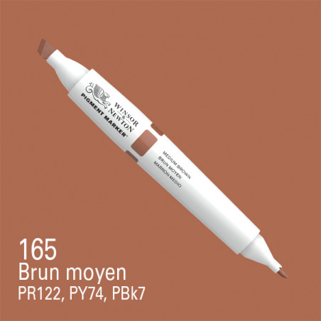 W&N PIGMENT MARKER MARRON MEDIUM 165