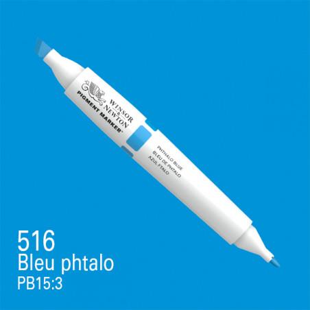 W&N PIGMENT MARKER BLEU PHTHALO 516