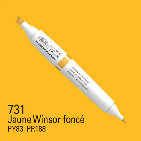 W&N PIGMENT MARKER JAUNE PROFOND WINSOR 731