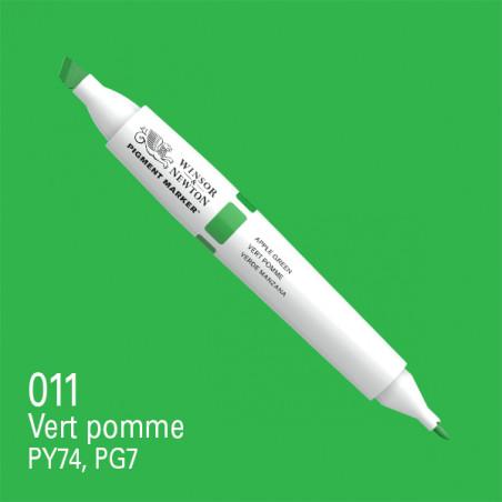 W&N PIGMENT MARKER VERT POMME 011