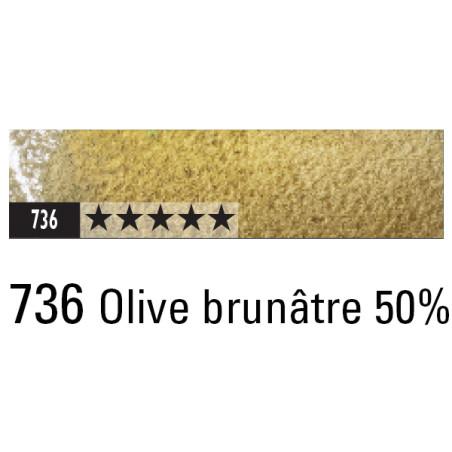 CARAN D'ACHE ARTIST MUSEUM AQUA CRAYON 736 OLIVE BRUNATRE 50%