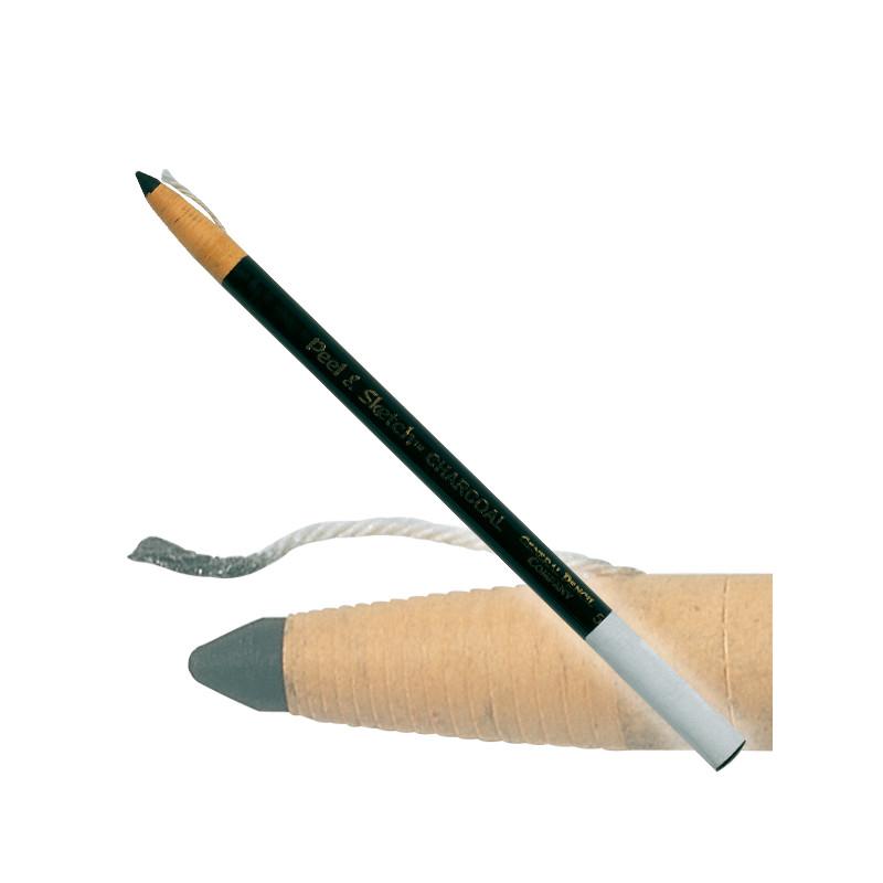 Crayon de charbon peel & sketch