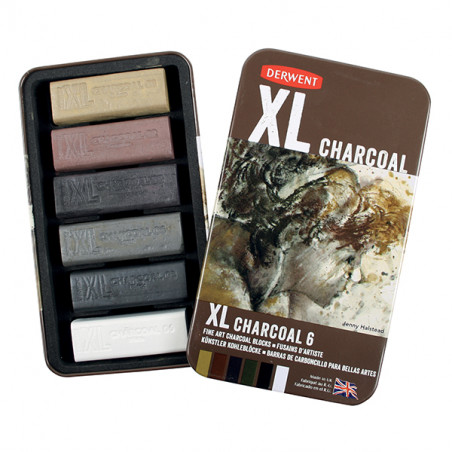 Set de 6 Fusains  XL Charcoal