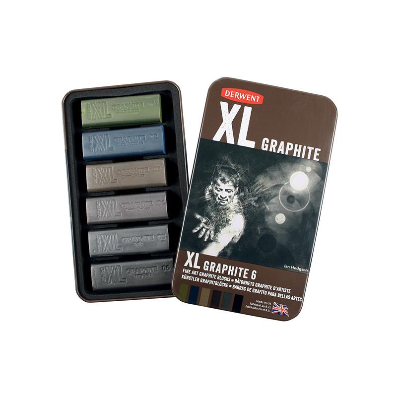Craies graphite XL Derwent en boîte