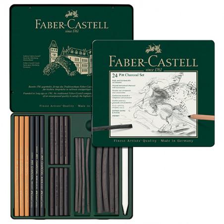 Set fusain Pitt monochrome Faber-Castell