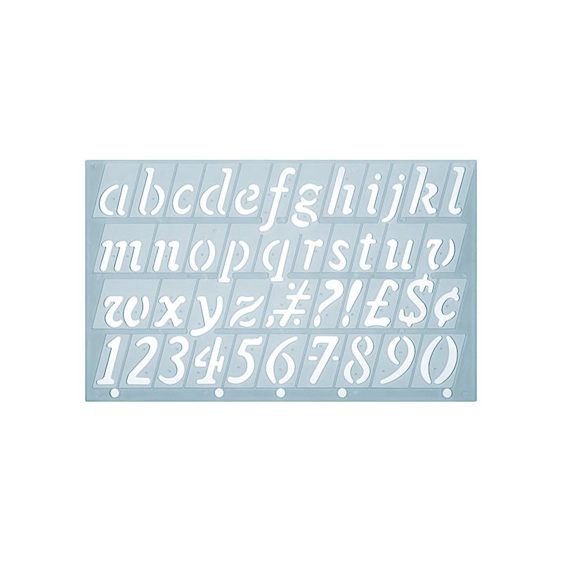 Trace-lettres cursif avec caractères spéciaux