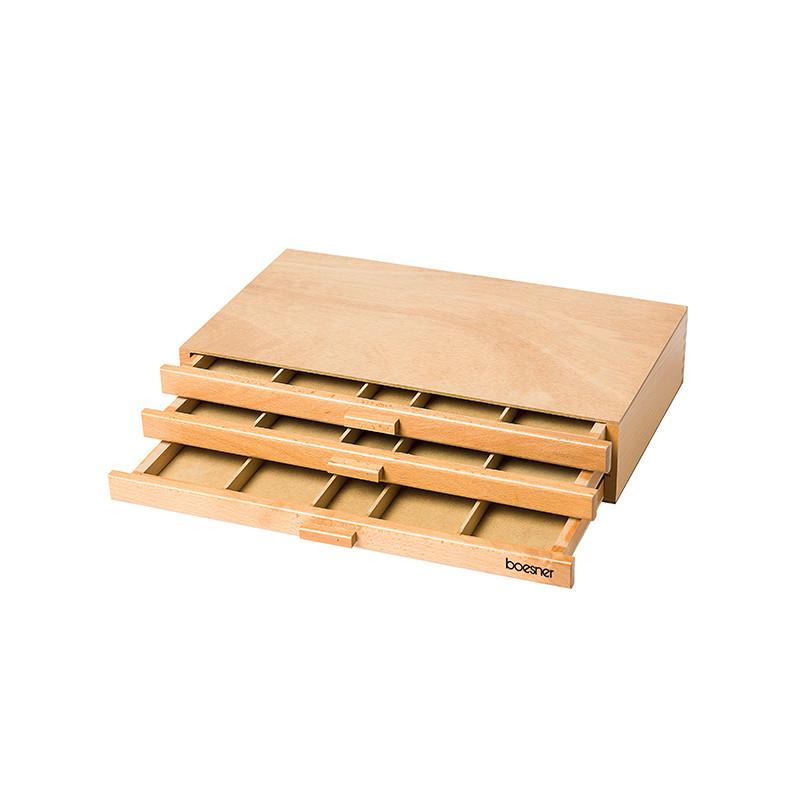 Boîte à tiroirs en bois pour rangement