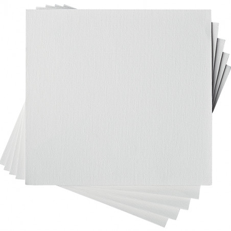 TOILE APPRETEE AUTO ADHESIVE 5 FEUILLES A4
