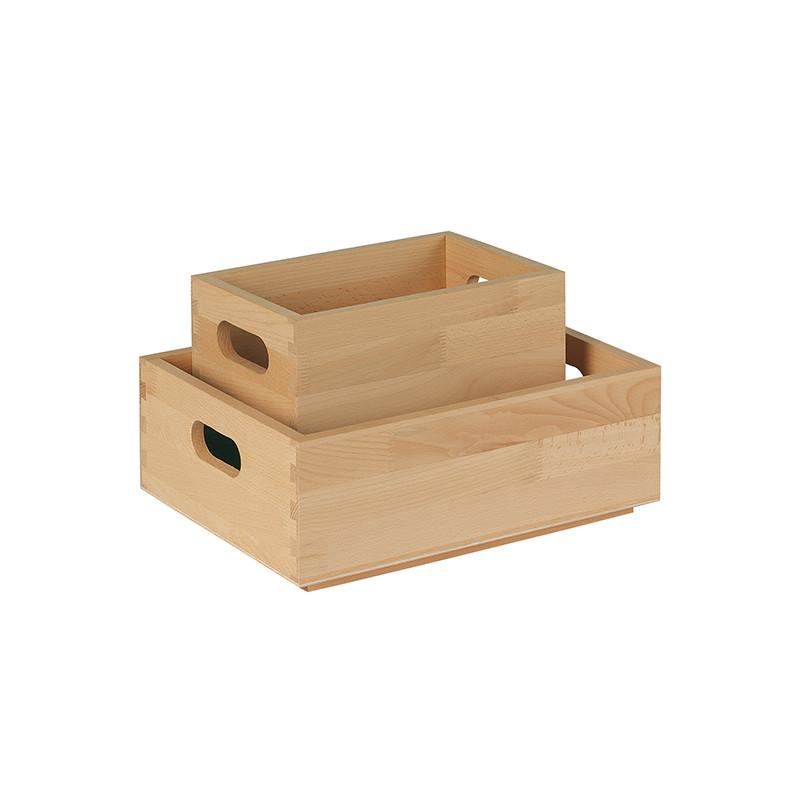 Caisse en bois de hêtre