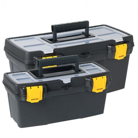 Boîte de rangement en plastique noir