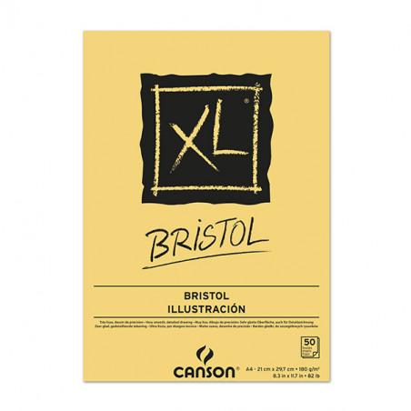 CANSON XL BLOC COLLE BRISTOL 180G A4 50F BLANC