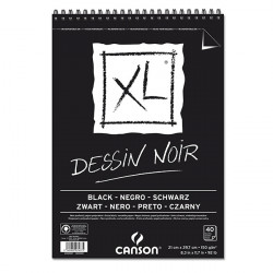 CANSON XL BLOC SPIRALE DESSIN 150G A4 40F NOIR