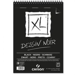 CANSON XL BLOC SPIRALE DESSIN 150G A3 40F NOIR