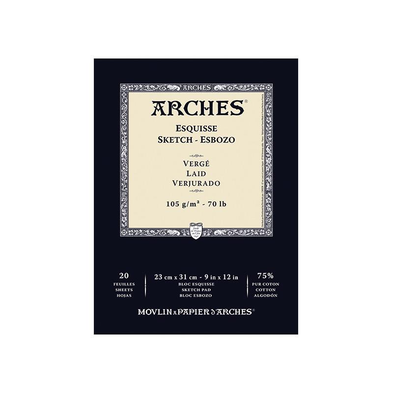 ARCHES ESQUISSE BLOC 105G VERGE 23X31CM 20F/A EFFACER