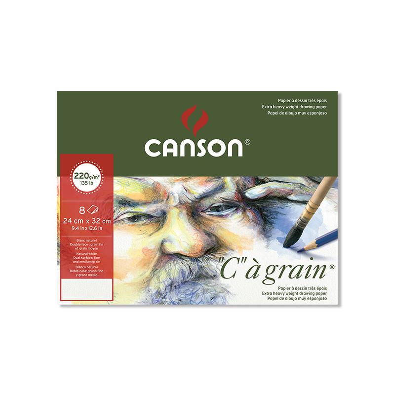 CANSON POCHETTE CAG 24X32CM 220G 8F