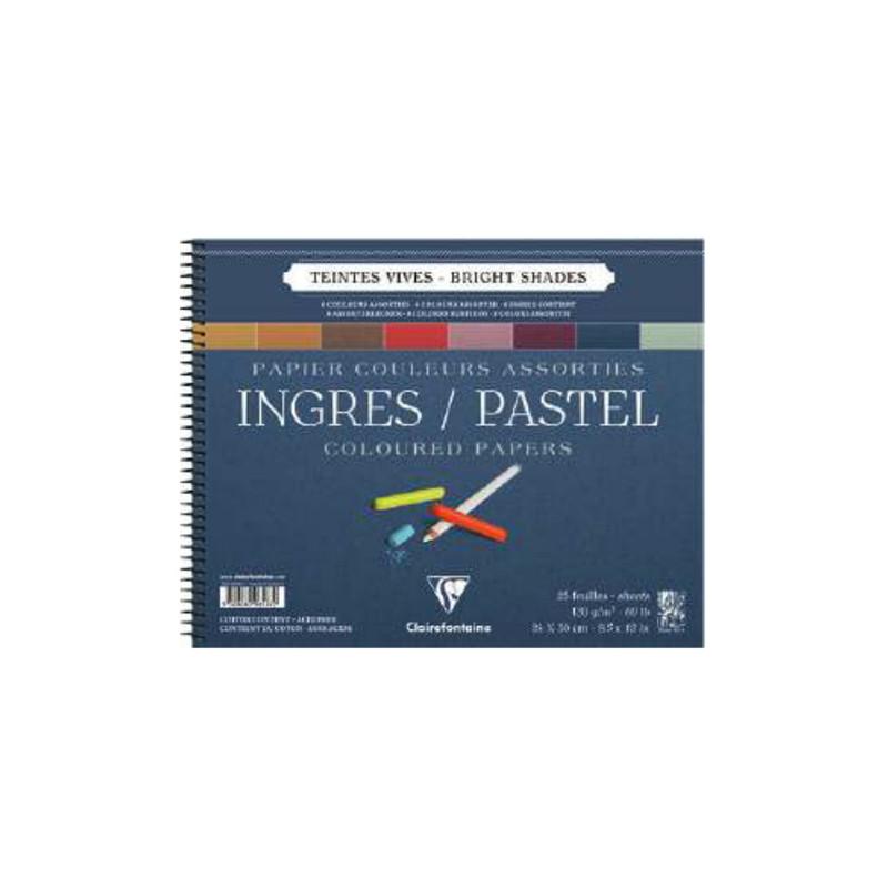 Bloc de papier Ingres pour pastel couleurs vives Clairefontaine