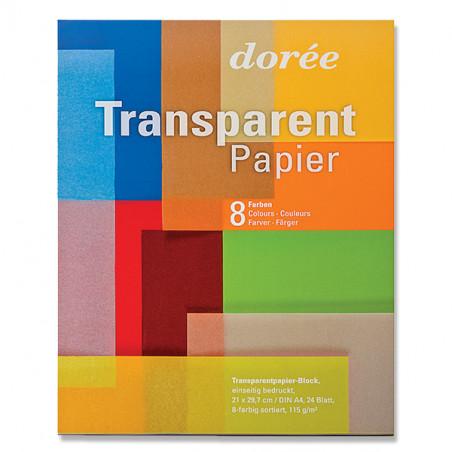 Bloc de papier transparent 115g/m²