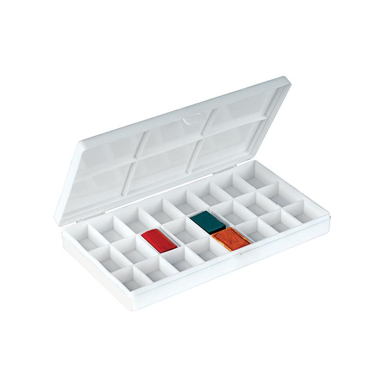 Boîte vide pour 24 godets aquarelle