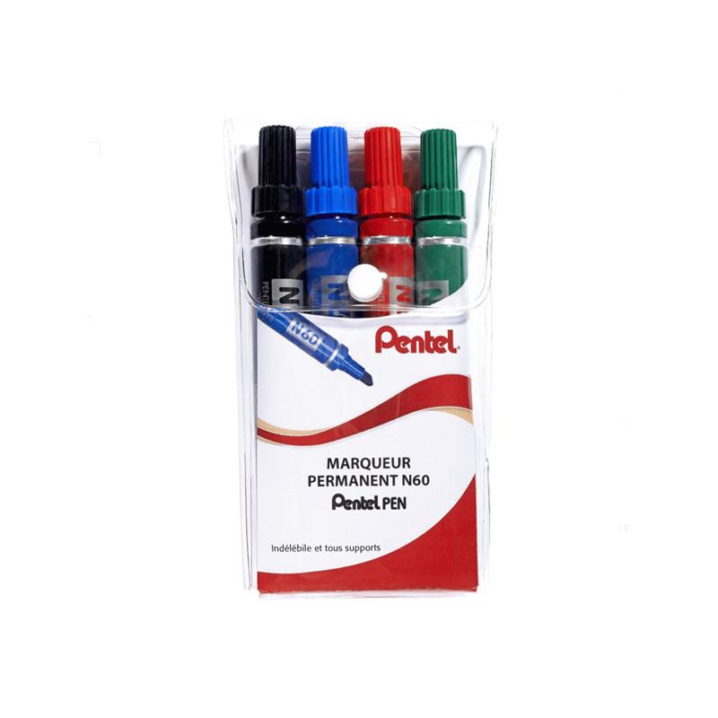 Pochette 4 marqueurs Pentel pen