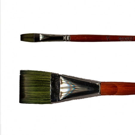 Pinceau synthétique brosse plate Elite Manet