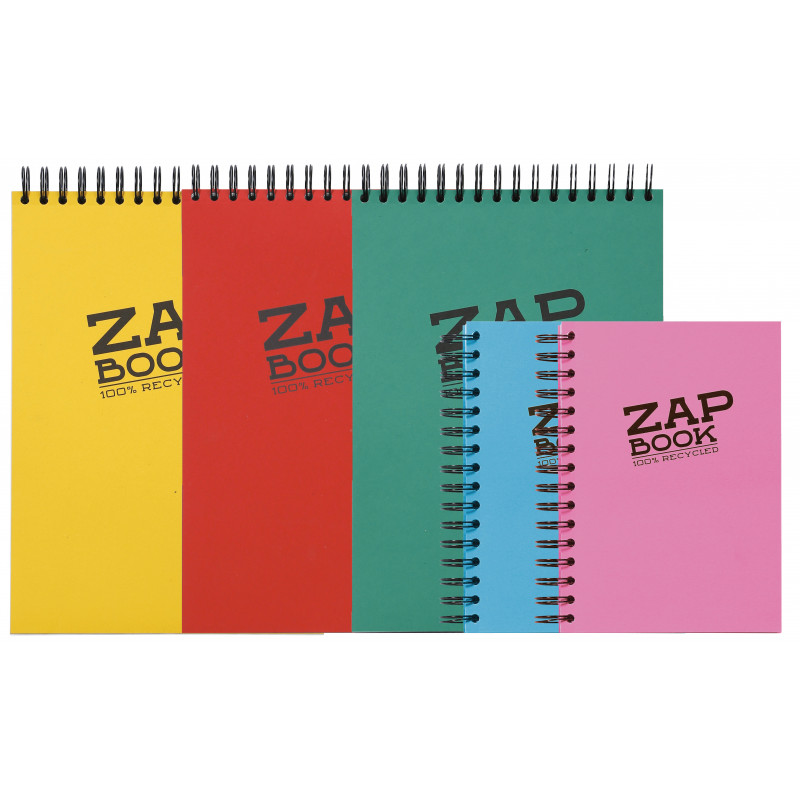 ZAP BOOK  SPIRALE PETIT COTE 80G/M² A6 160F