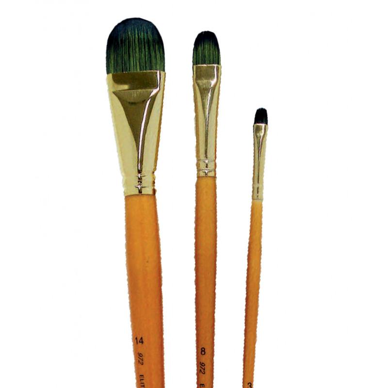 Pinceau synthétique brosse forme amande Elite Manet