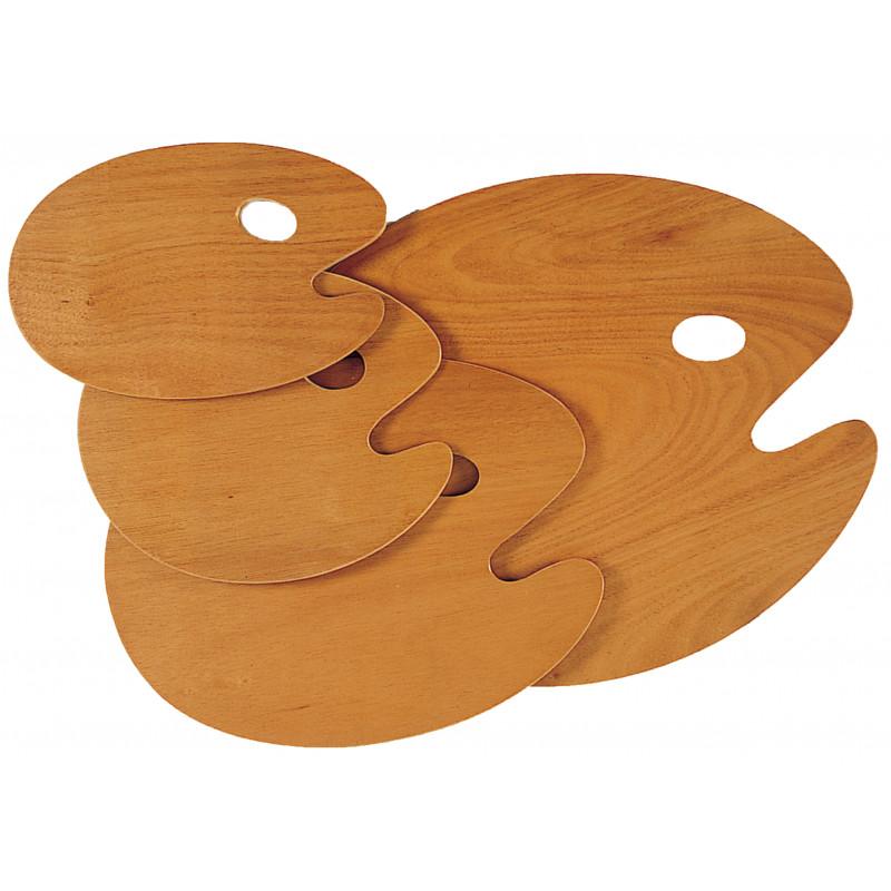 Palettes ovales en bois