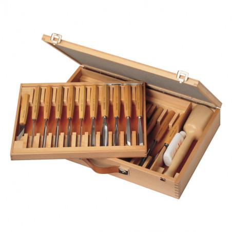 Set de 25 outils de sculpture sur bois