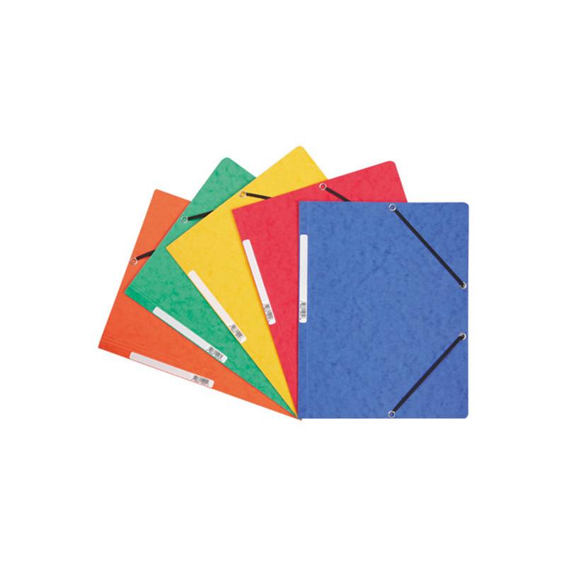 Chemise cartonnée 3 rabats couleur Exacompta