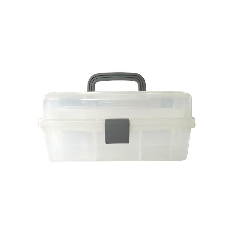 Boîte à outils en plastique transparent