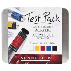 SENNELIER TEST PACK ACRYLIQUE XF 5x21ML